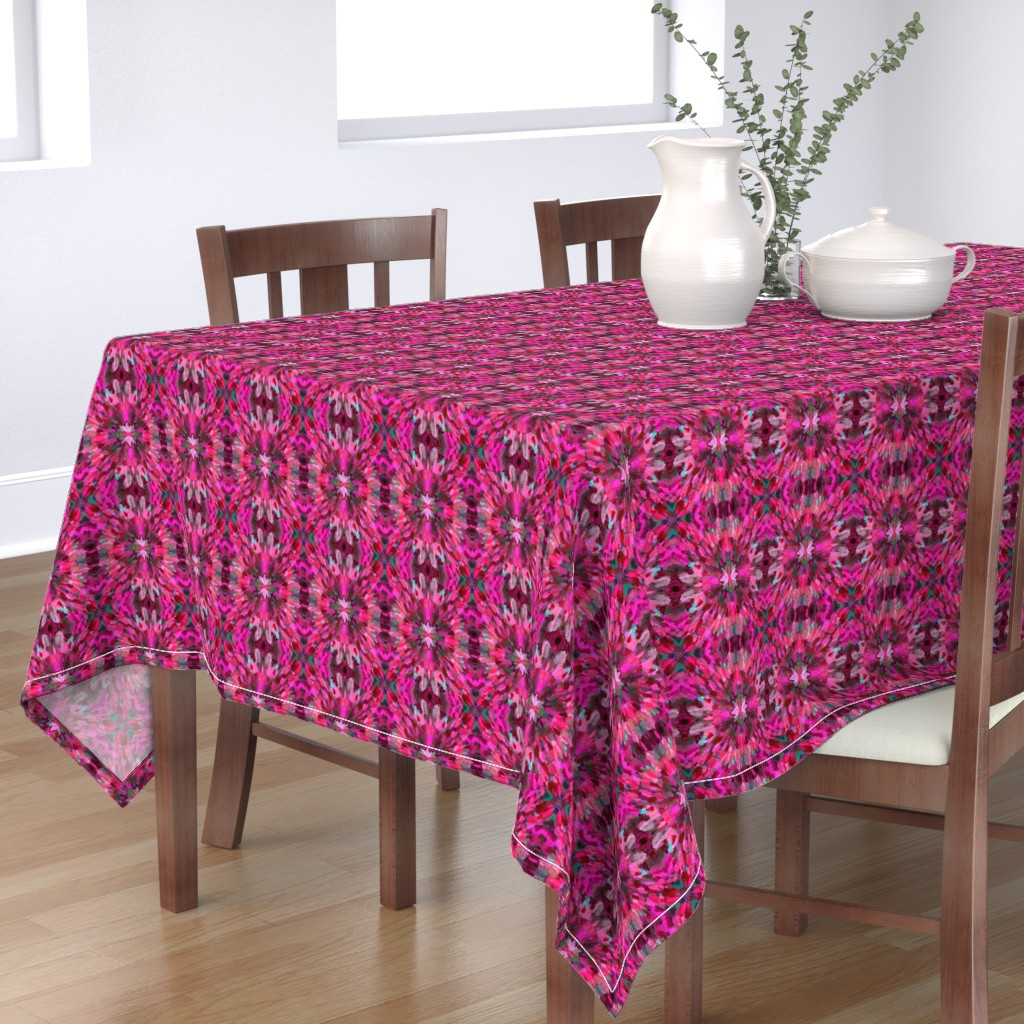 Bantam Rectangular Tablecloth featuring Diana Star Paint Strokes, Pink by palifino