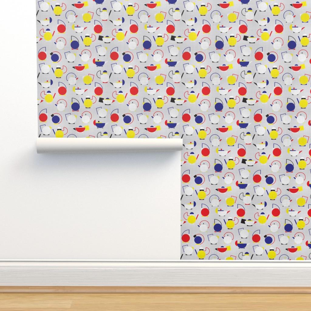 Isobar Durable Wallpaper featuring Bauhaus Confet-TEA by booboo_collective
