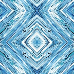 LL- Liquid Lake Blue Marble Diamonds, small