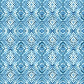 LL- Liquid Lake Blue Marble Diamond Brocade