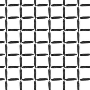 Neutral Home Decor Black White Grid Sticks Watercolor Graphic Square _ Miss Chiff Designs