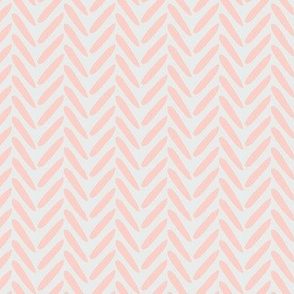 18-08E Blush Peach Pink Coral on Gray grey Herringbone Weave Simple _ Miss Chiff Designs