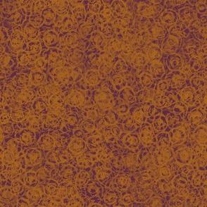 Cup Lichen Texture - Orange and Fuchsia