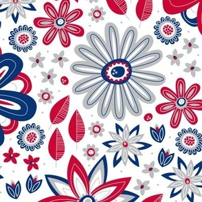 Bohemian Fields (Red, White and Blue)