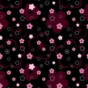Cherry Blossom Season in Black and Pink