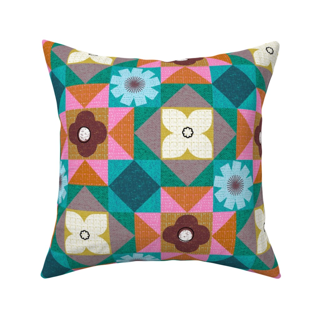 Catalan Throw Pillow featuring colors of morocco by ottomanbrim