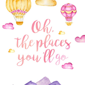 """""""Oh the Places"""" (girl version) - 2 Yards"""