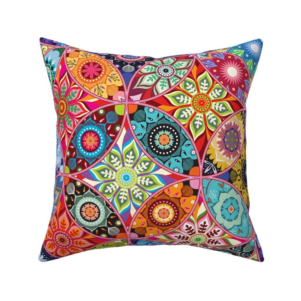Catalan Throw Pillow featuring Moroccan bazaar by camcreative