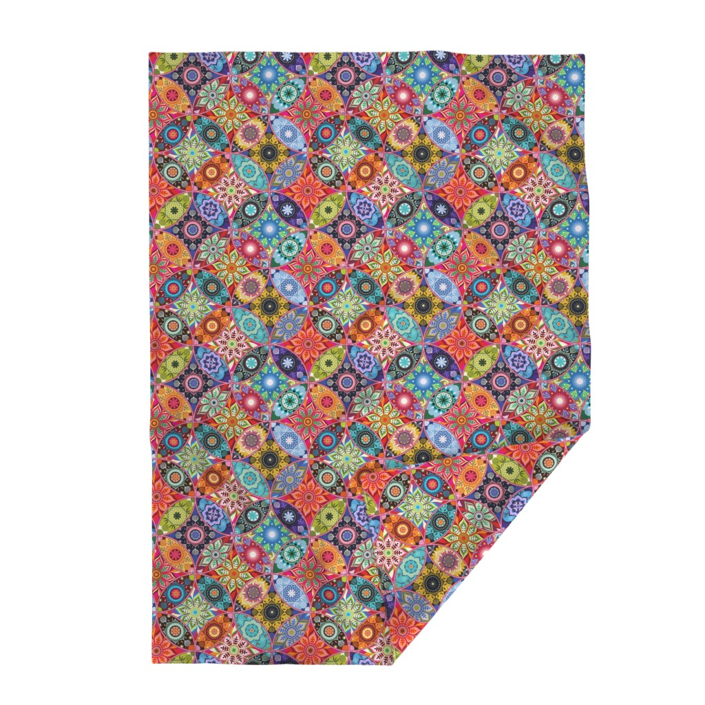 Lakenvelder Throw Blanket featuring Moroccan bazaar by camcreative