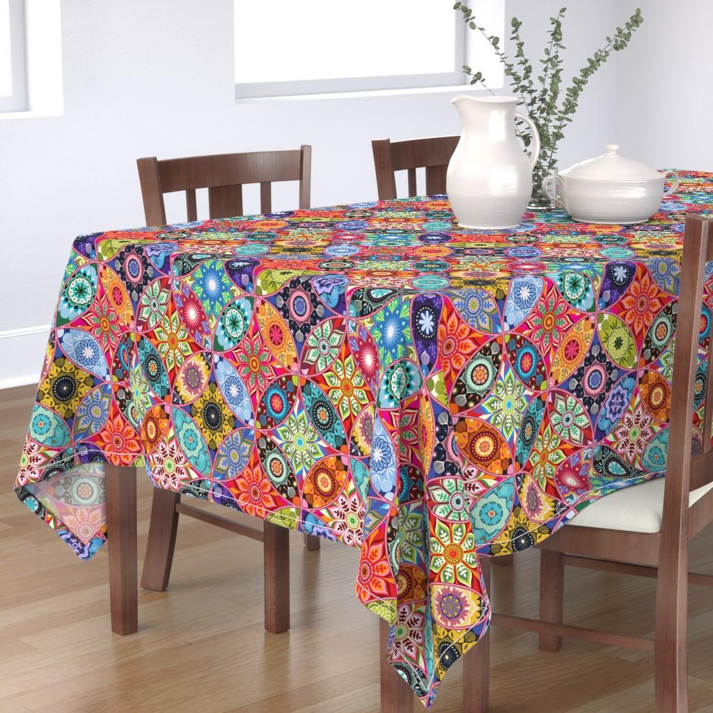 Bantam Rectangular Tablecloth featuring Moroccan bazaar by camcreative