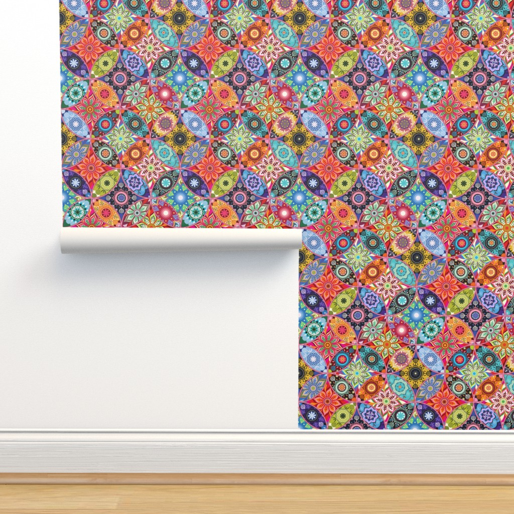Isobar Durable Wallpaper featuring Moroccan bazaar by camcreative