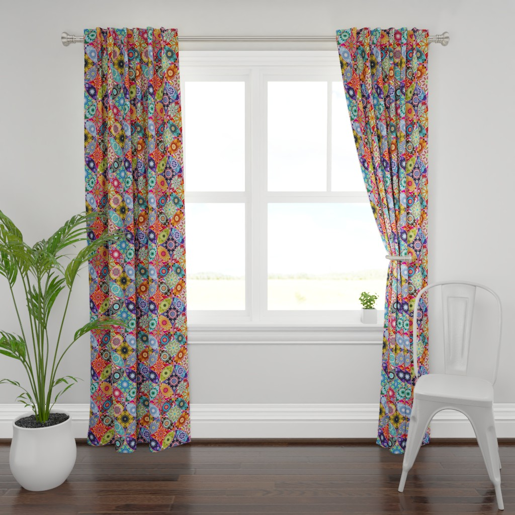 Plymouth Curtain Panel featuring Moroccan bazaar by camcreative