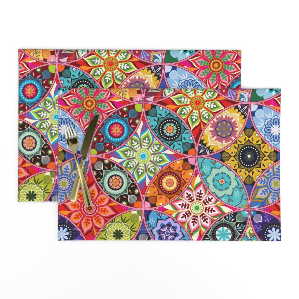 Lamona Cloth Placemats featuring Moroccan bazaar by camcreative