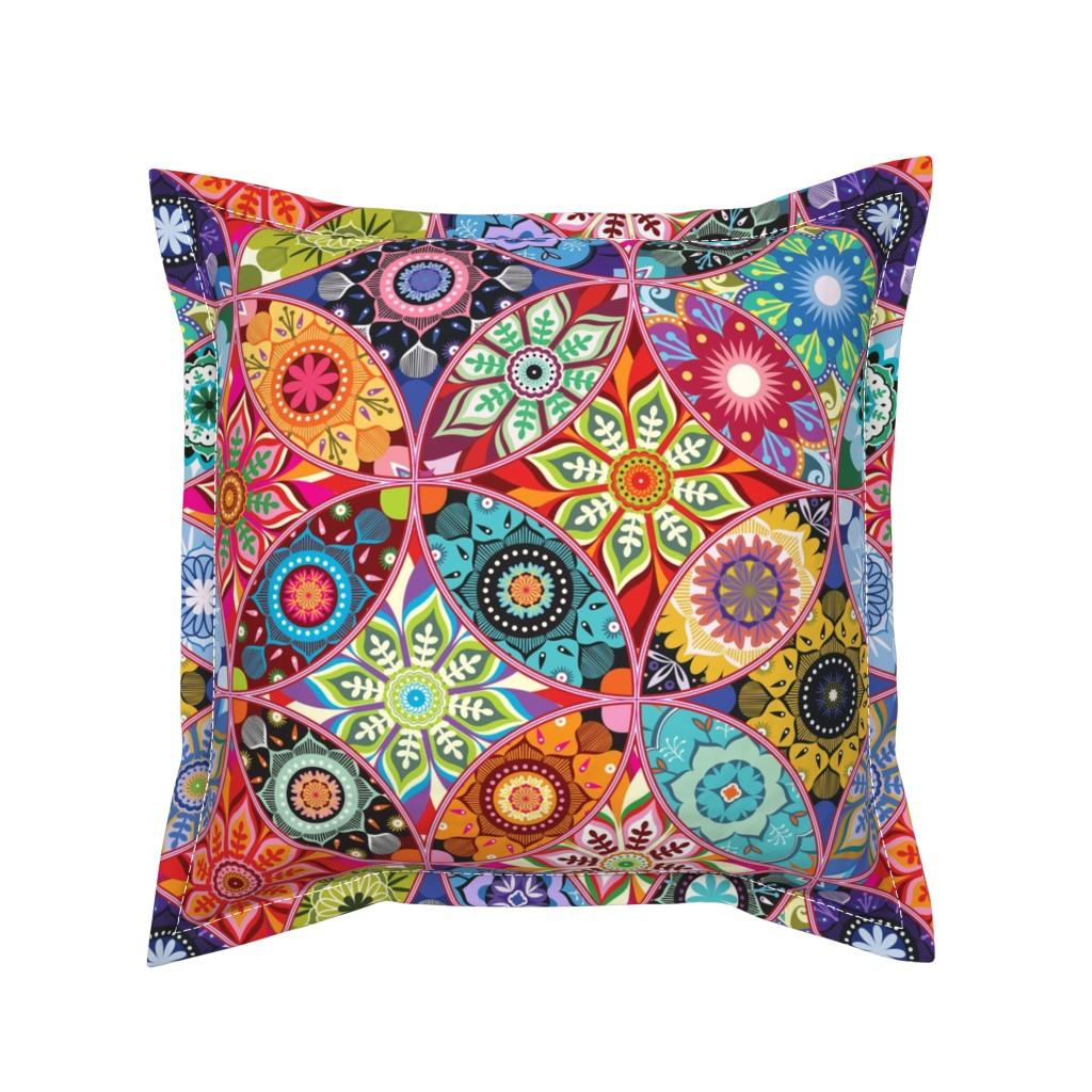 Serama Throw Pillow featuring Moroccan bazaar by camcreative