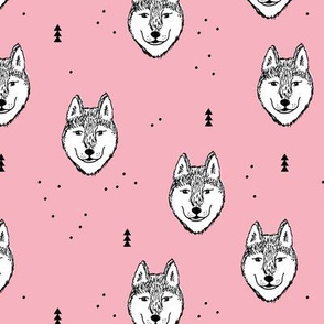 Husky love cool puppy pattern for dog lovers summer pink