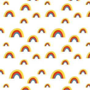 summer rainbow pattern
