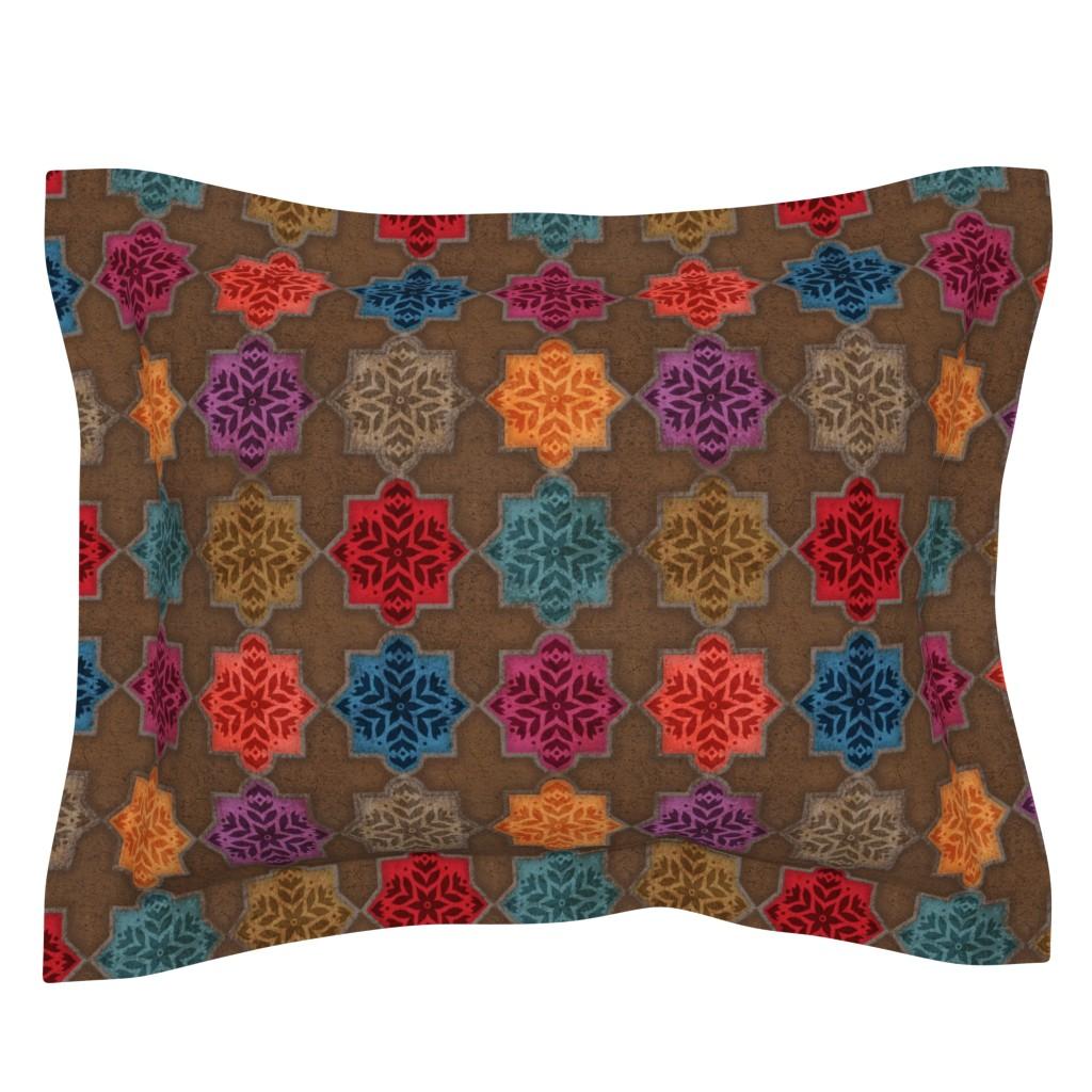 Sebright Pillow Sham featuring Marrakesh by malibu_creative