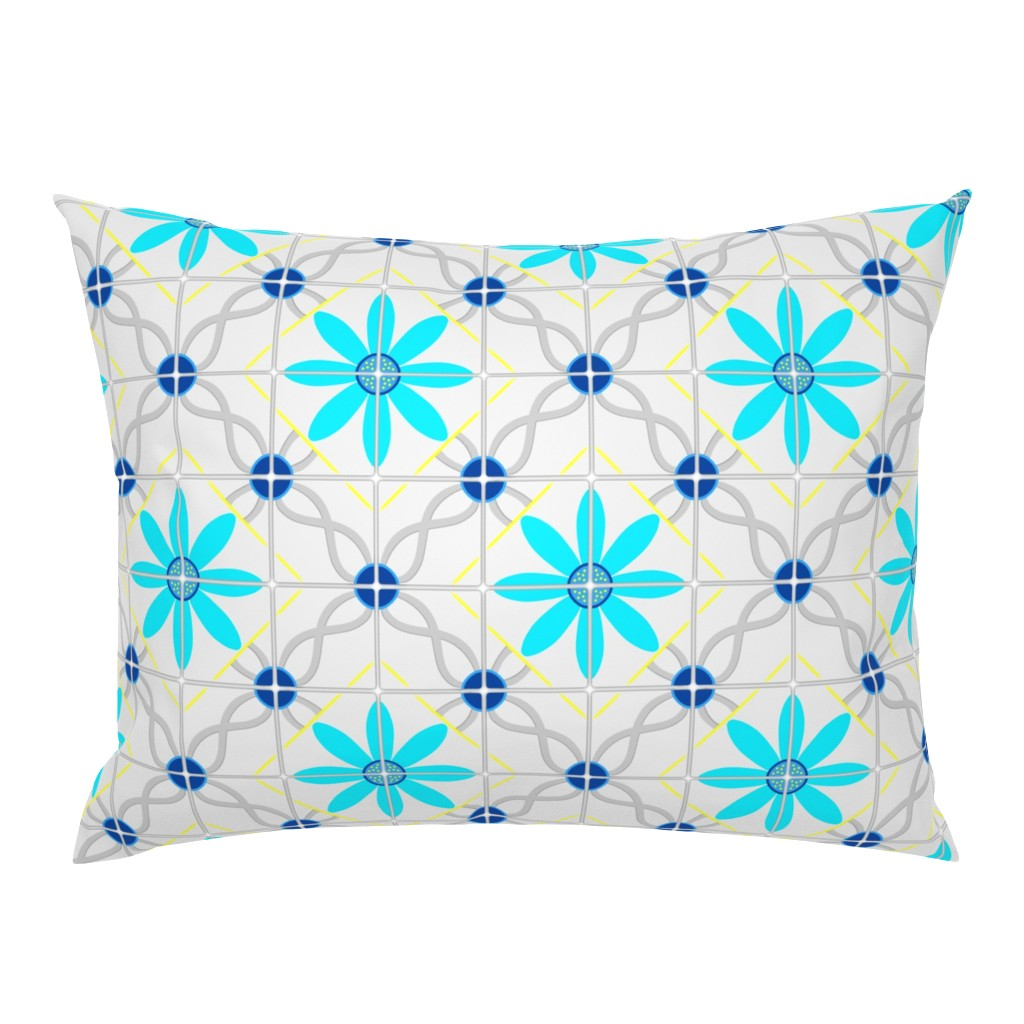Campine Pillow Sham featuring Marrakesh tile by everhigh