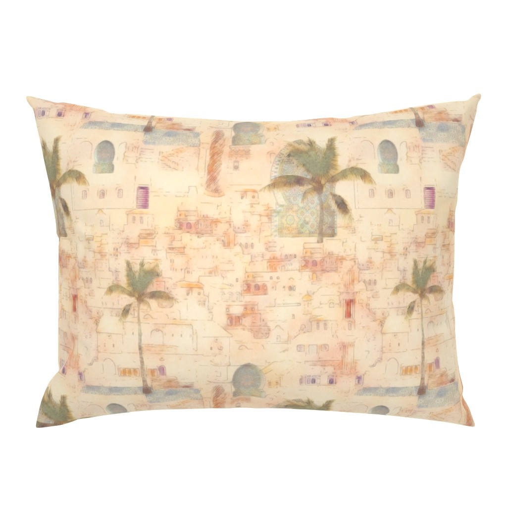 Campine Pillow Sham featuring moroccan impression  by dessineo