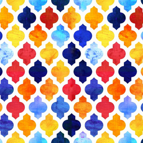 Marrakesh Moroccan red and blue