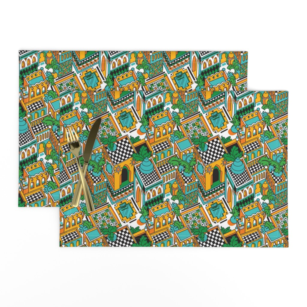 Lamona Cloth Placemats featuring Marrakesh by julistyle