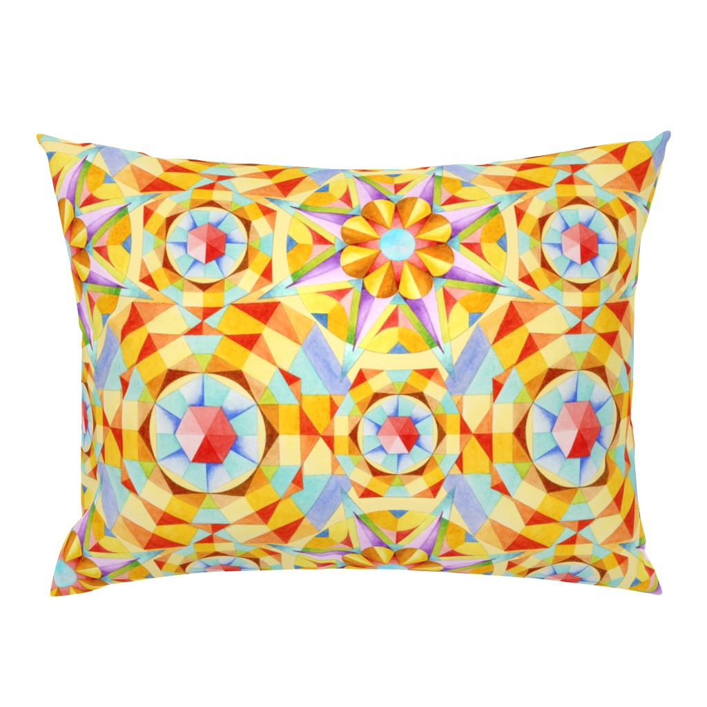 Campine Pillow Sham featuring Marrakesh Moderne by patriciasheadesigns