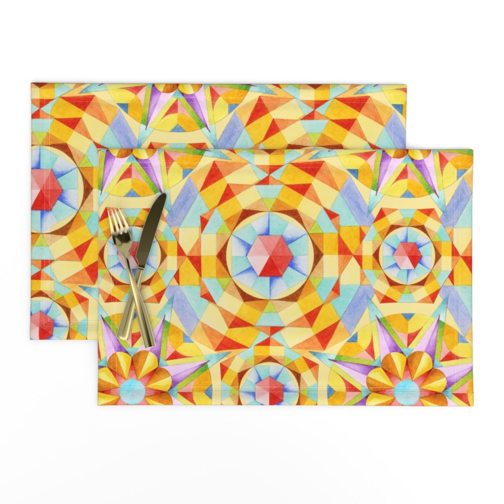Lamona Cloth Placemats featuring Marrakesh Moderne by patriciasheadesigns