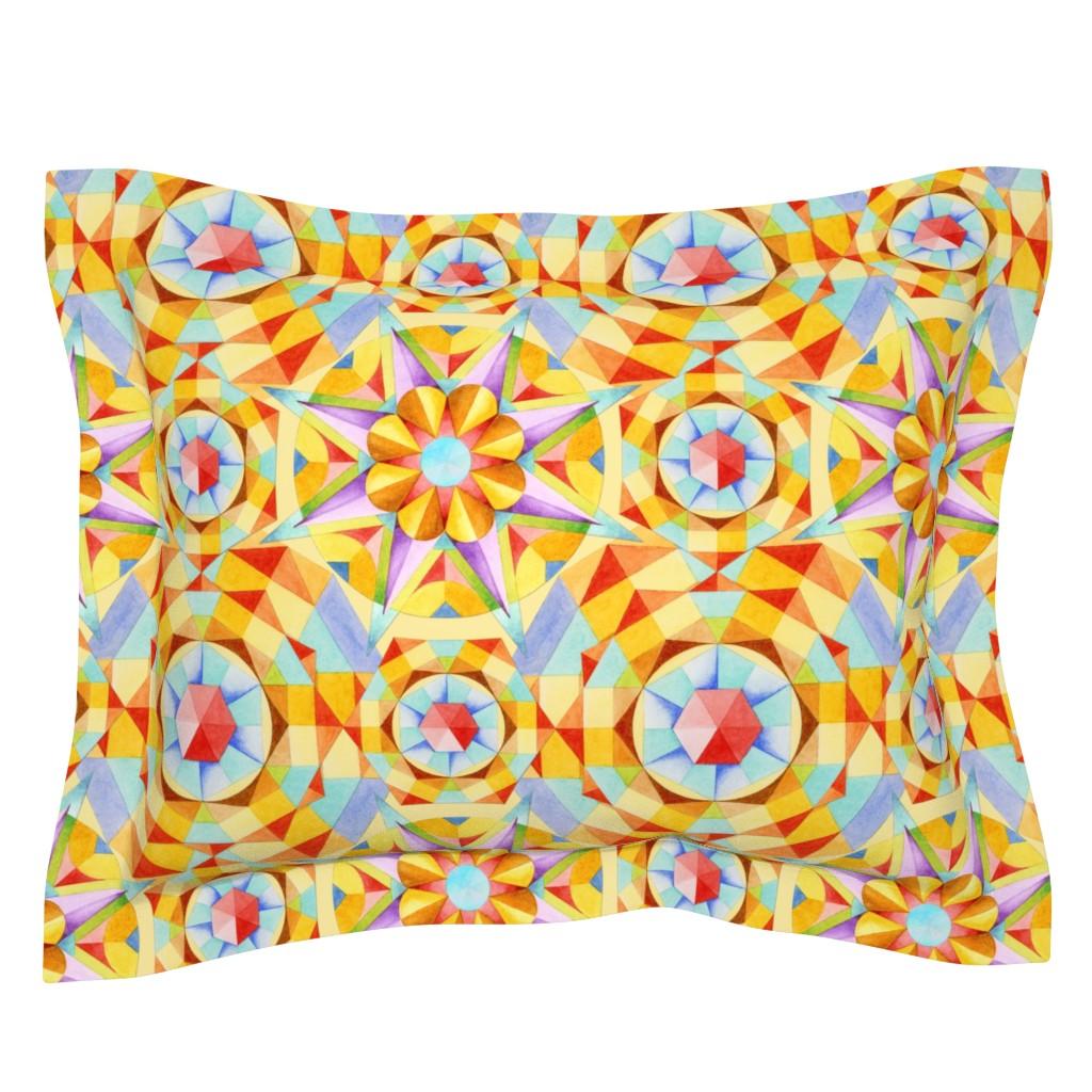 Sebright Pillow Sham featuring Marrakesh Moderne by patriciasheadesigns