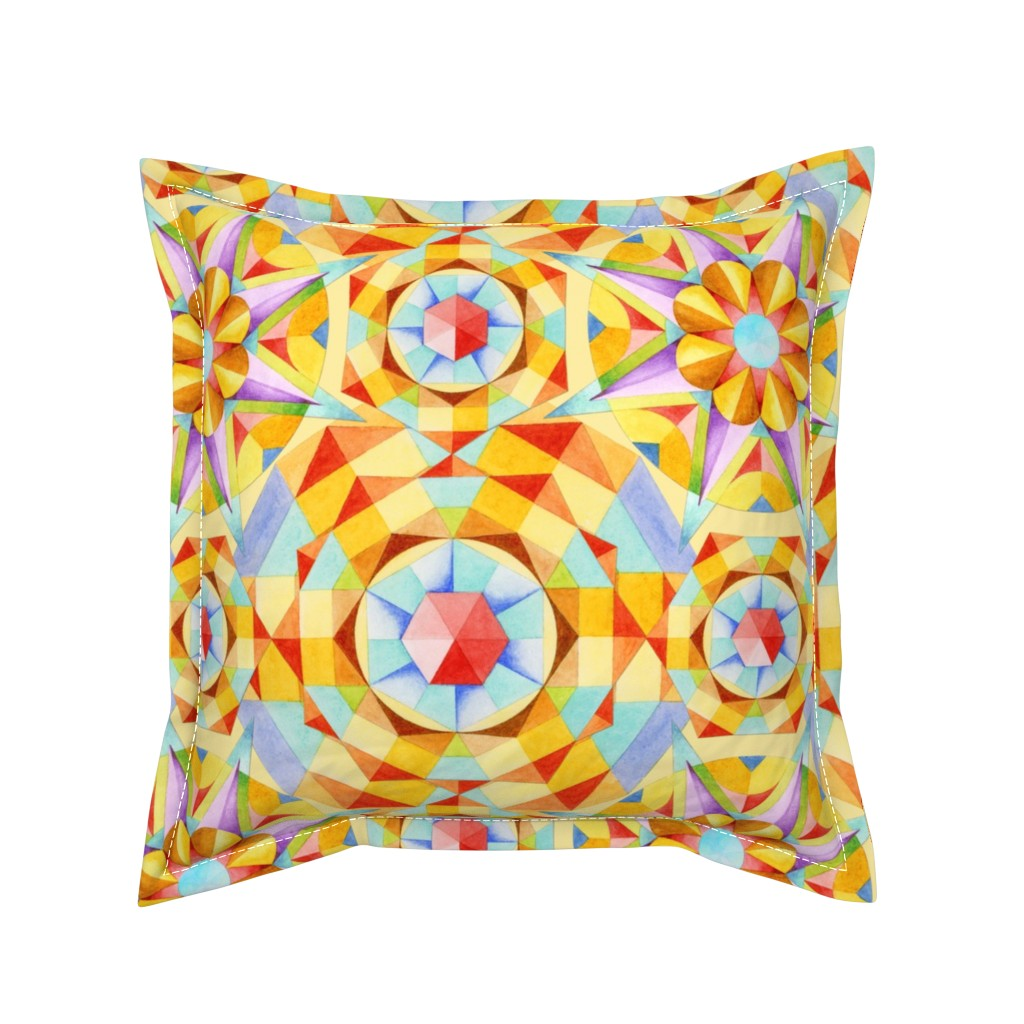 Serama Throw Pillow featuring Marrakesh Moderne by patriciasheadesigns