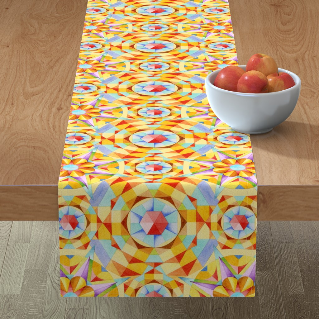 Minorca Table Runner featuring Marrakesh Moderne by patriciasheadesigns