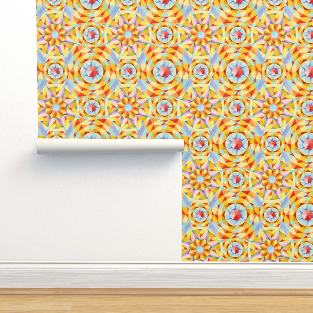 Isobar Durable Wallpaper featuring Marrakesh Moderne by patriciasheadesigns