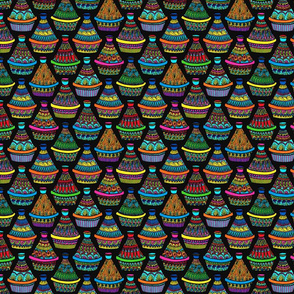 Pattern #82 - Moroccan tagines at the souk
