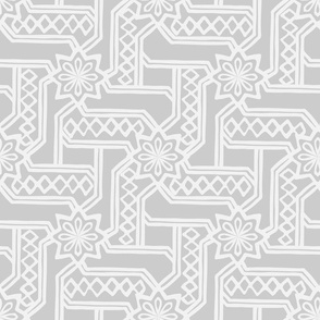 Marrakesh Maze - Pale Gray