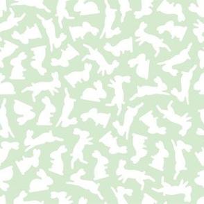 bunny silhouette pattern2