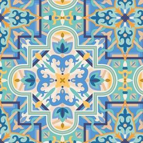 Marrakech Mosaic - Blue/yellow
