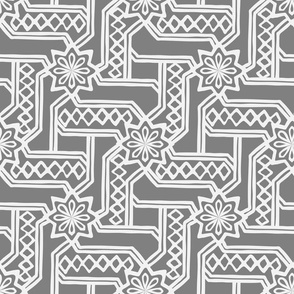 Marrakesh Maze -Gray