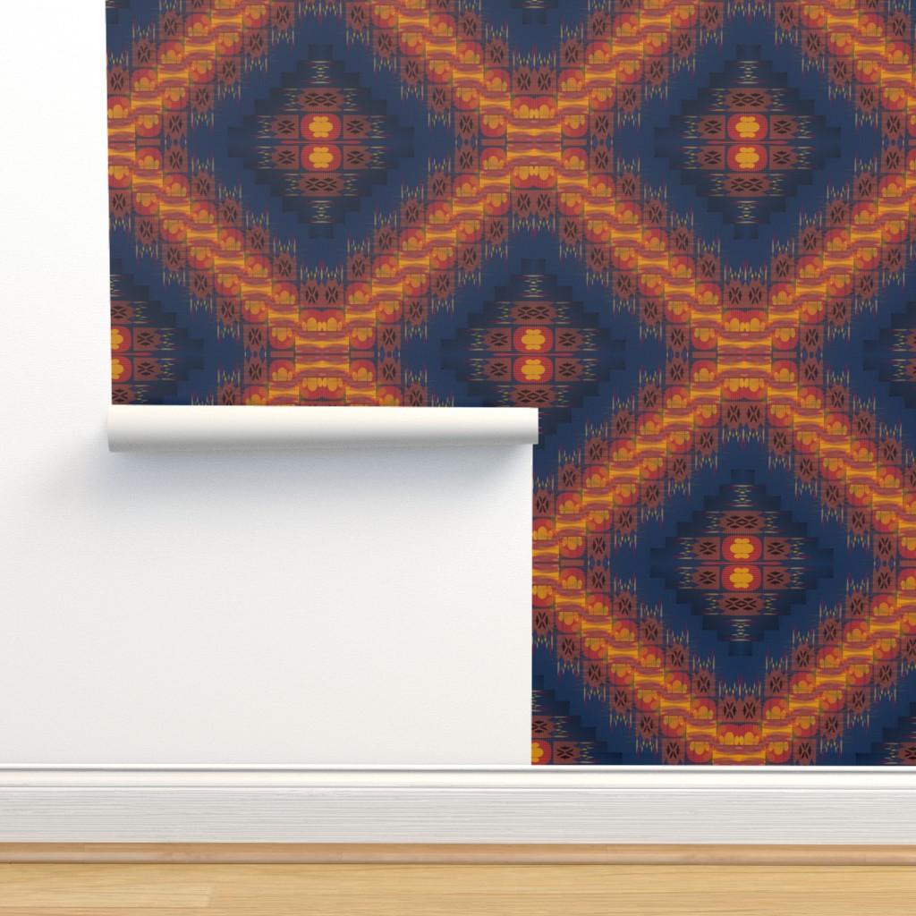 Isobar Durable Wallpaper featuring Sanjay Varoom (Dark Blue) by david_kent_collections