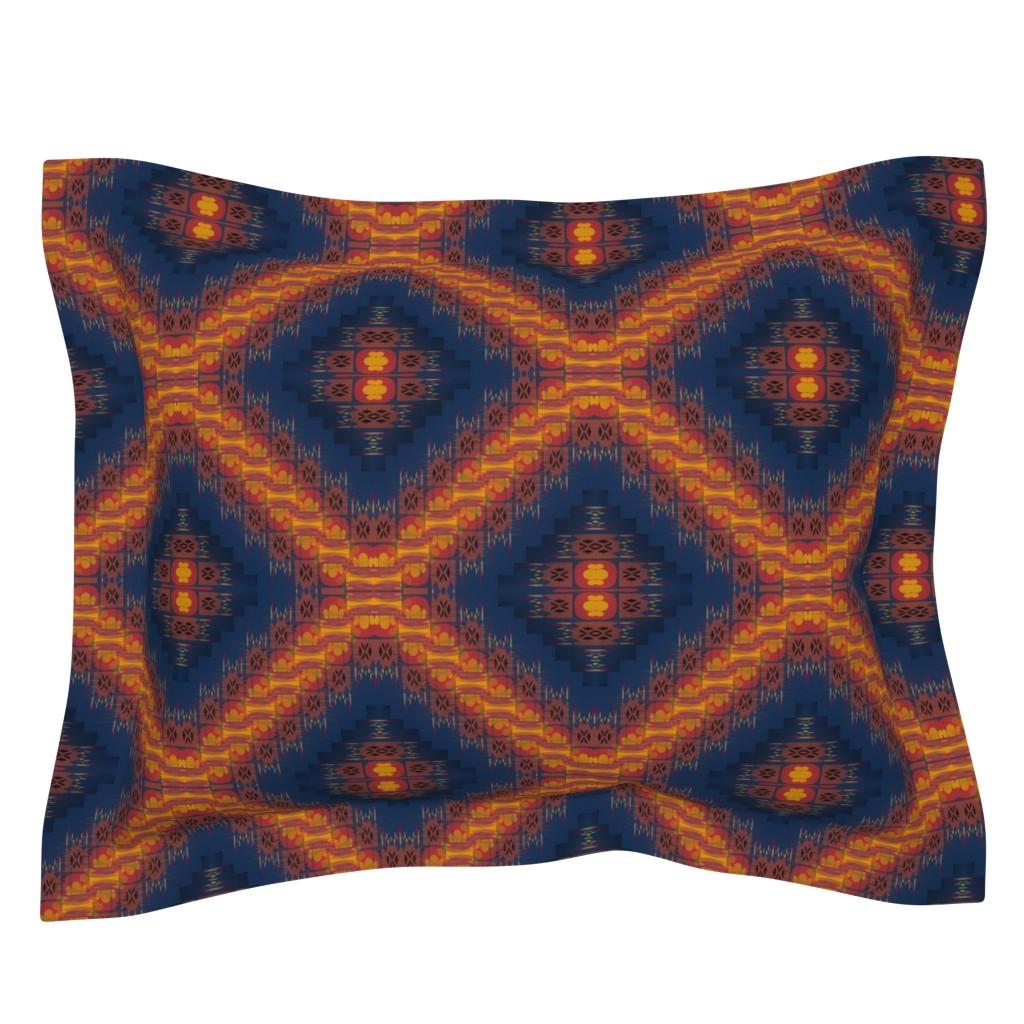 Sebright Pillow Sham featuring Sanjay Varoom (Dark Blue) by david_kent_collections