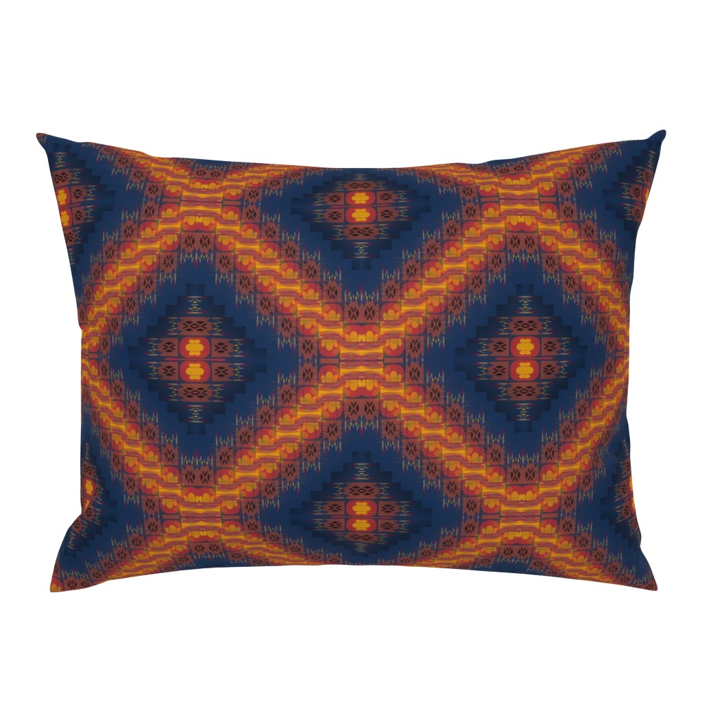 Campine Pillow Sham featuring Sanjay Varoom (Dark Blue) by david_kent_collections