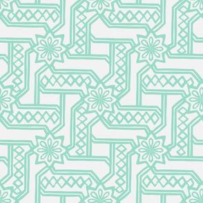 Marrakesh Maze - Chalk, Mint