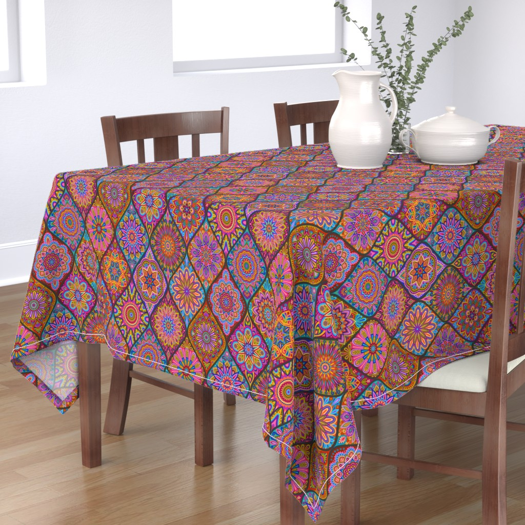 Bantam Rectangular Tablecloth featuring  The Marrakesh Express by groovity