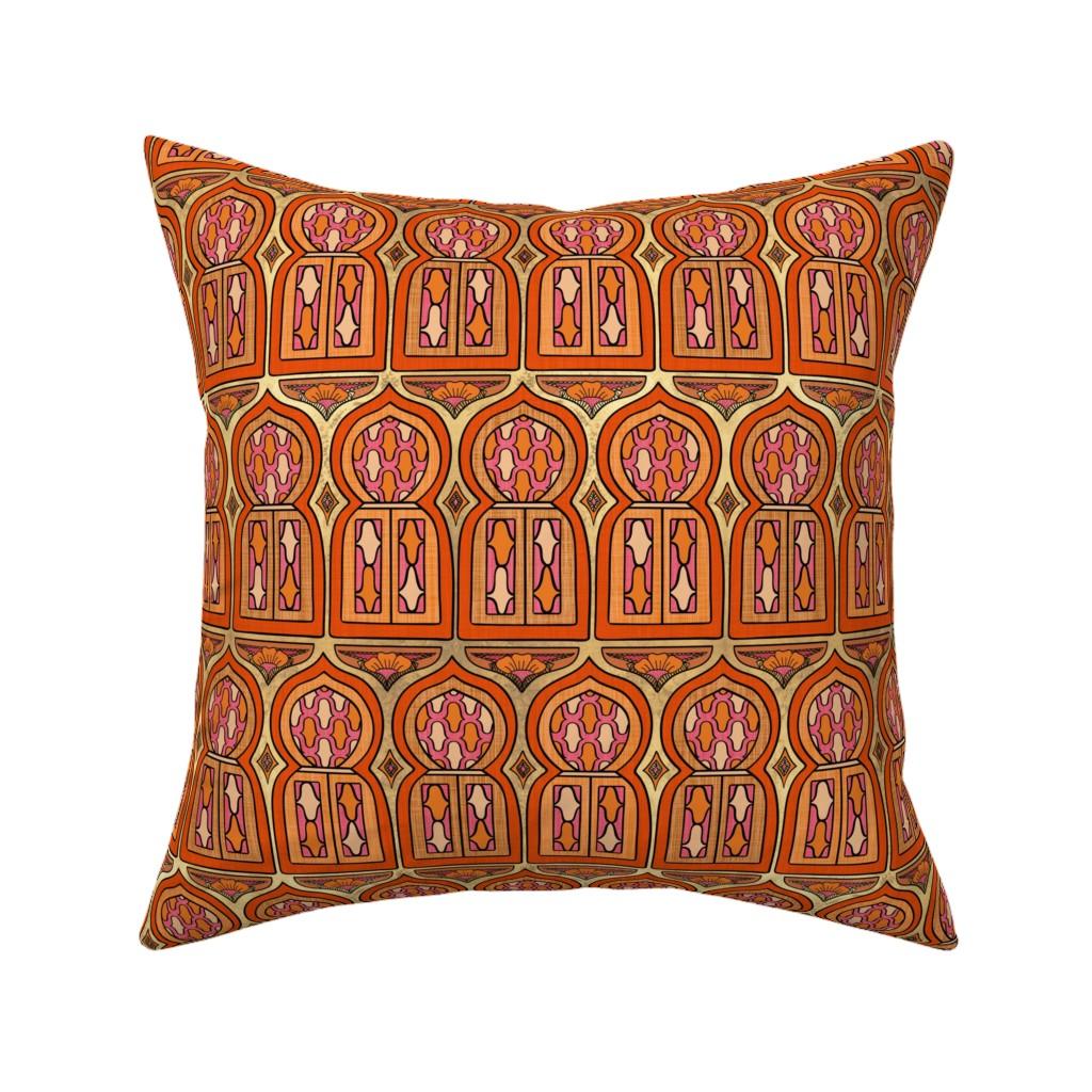 Catalan Throw Pillow featuring Marrakesh Windows by thewellingtonboot