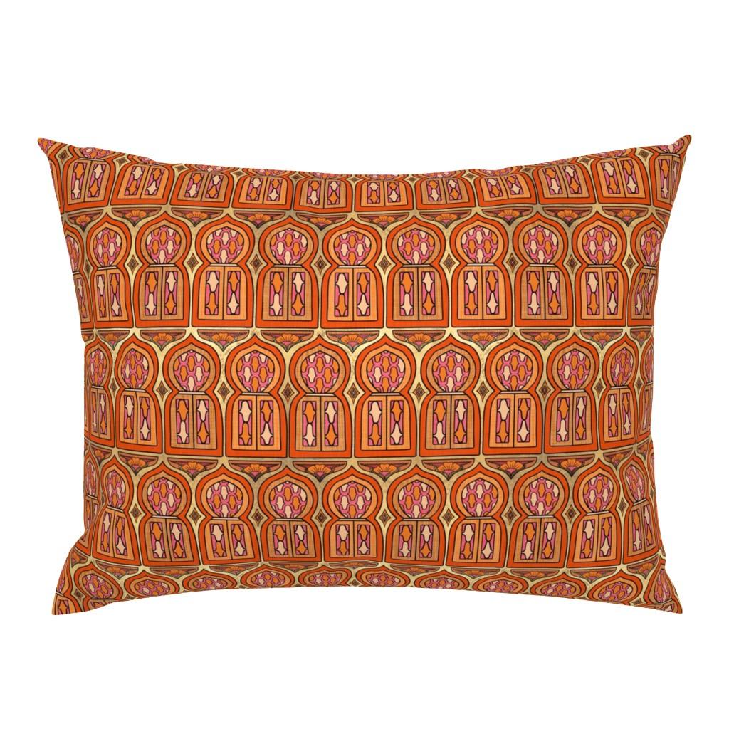 Campine Pillow Sham featuring Marrakesh Windows by thewellingtonboot