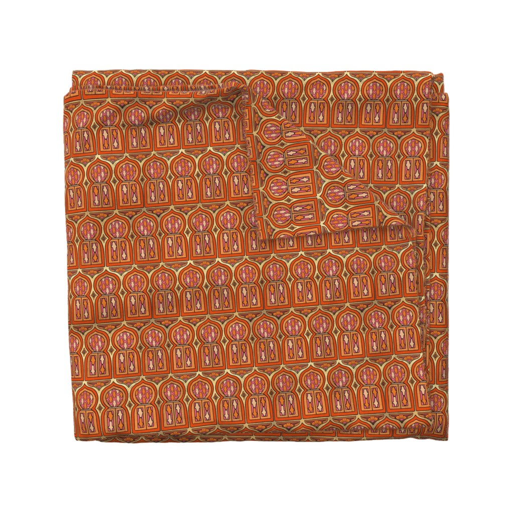 Wyandotte Duvet Cover featuring Marrakesh Windows by thewellingtonboot