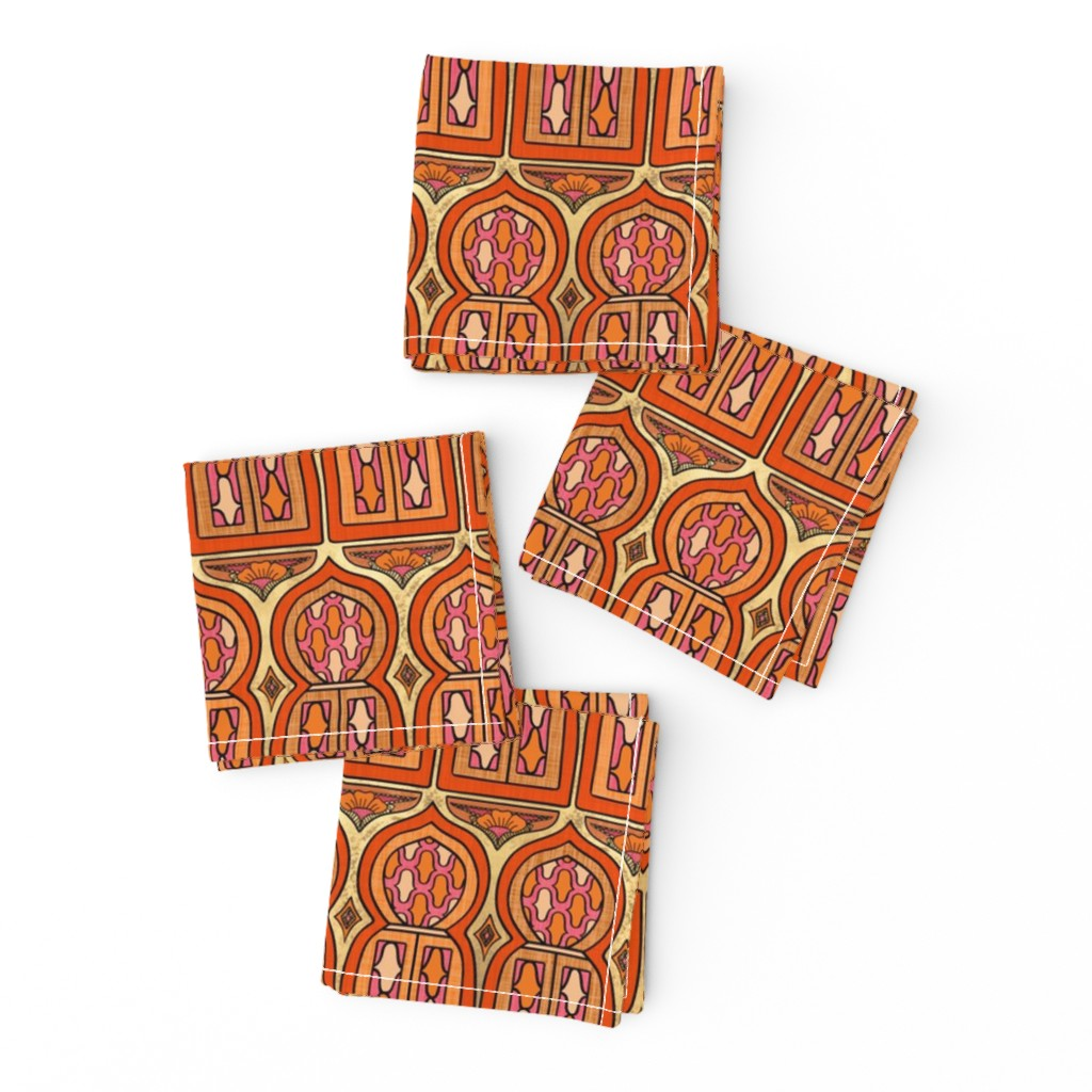 Frizzle Cocktail Napkins featuring Marrakesh Windows by thewellingtonboot