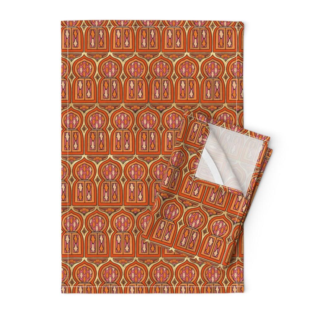 Orpington Tea Towels featuring Marrakesh Windows by thewellingtonboot
