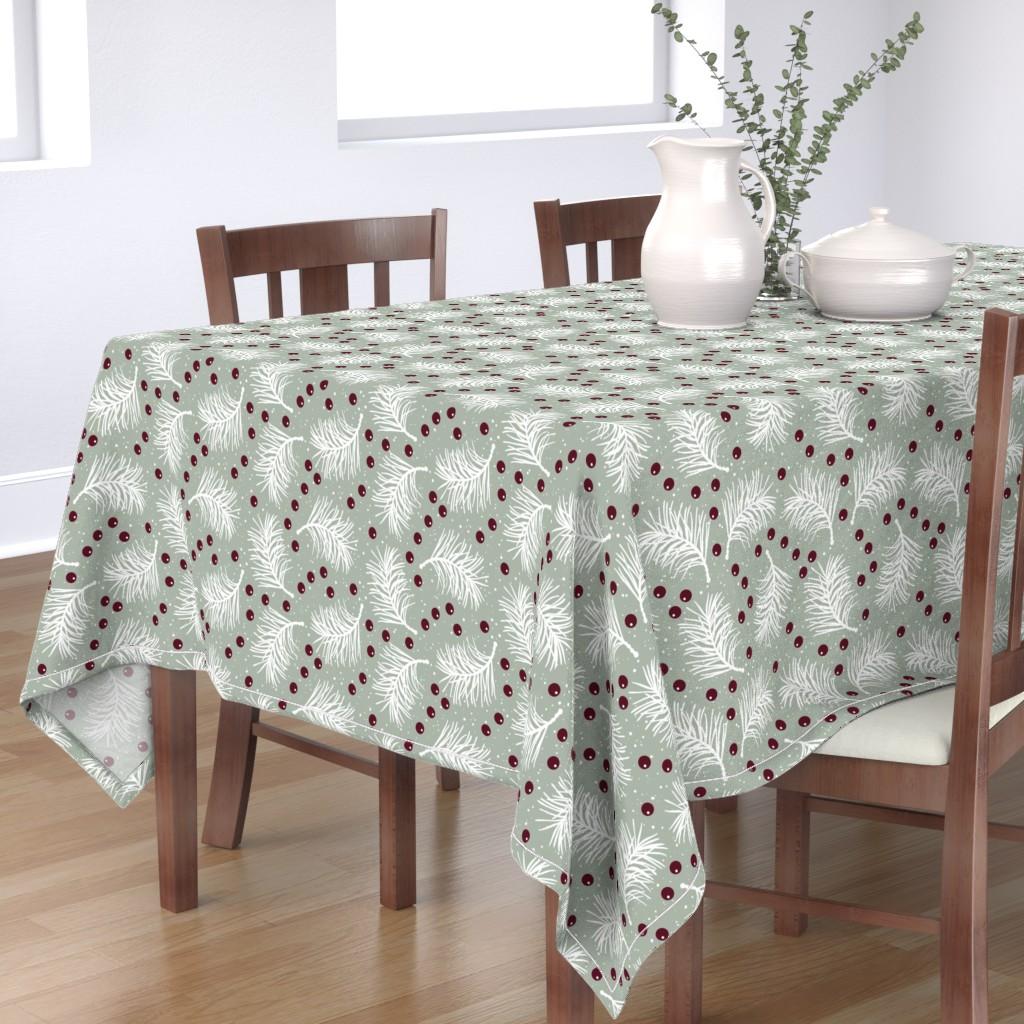 Bantam Rectangular Tablecloth featuring Elegant Holiday by malibu_creative