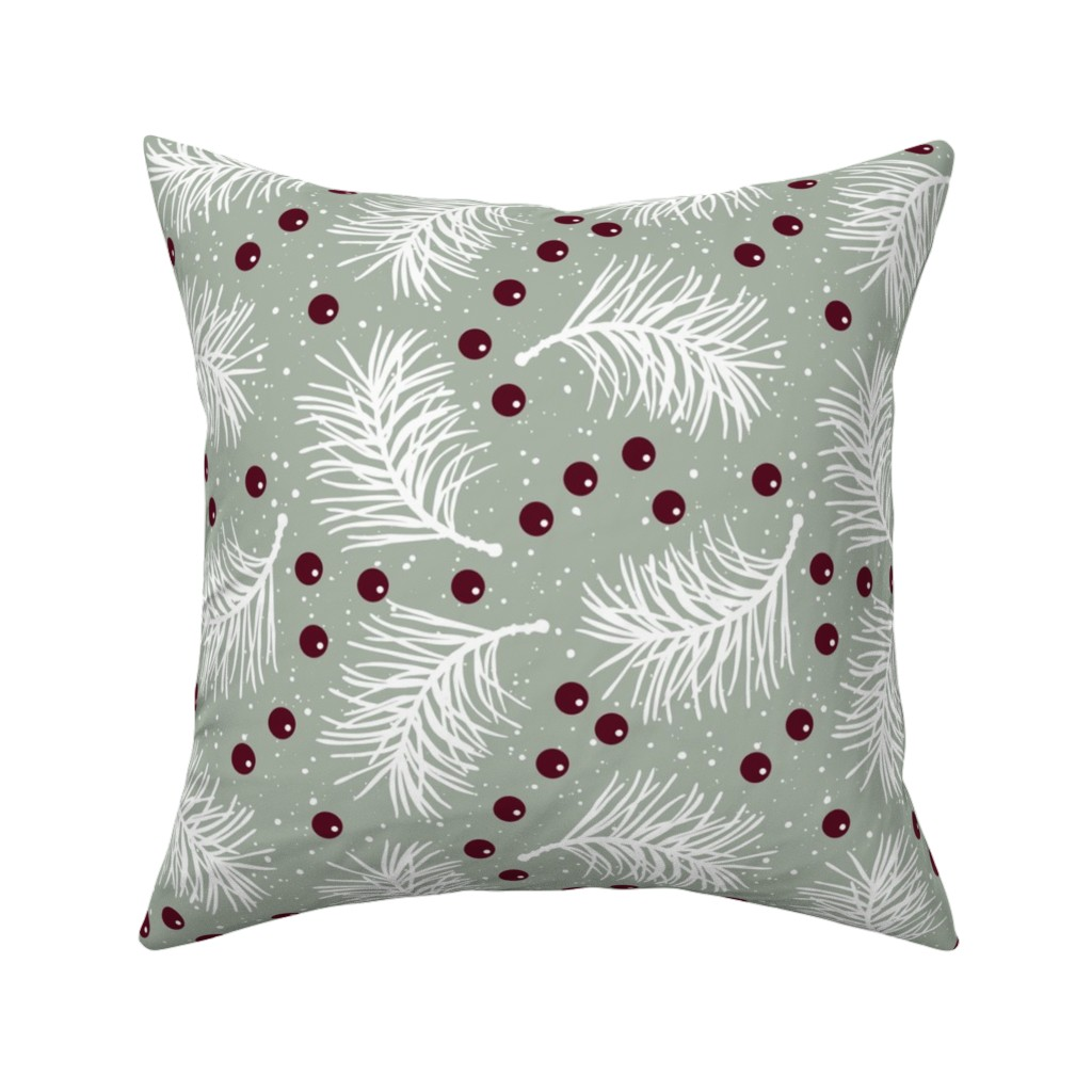 Catalan Throw Pillow featuring Elegant Holiday by malibu_creative