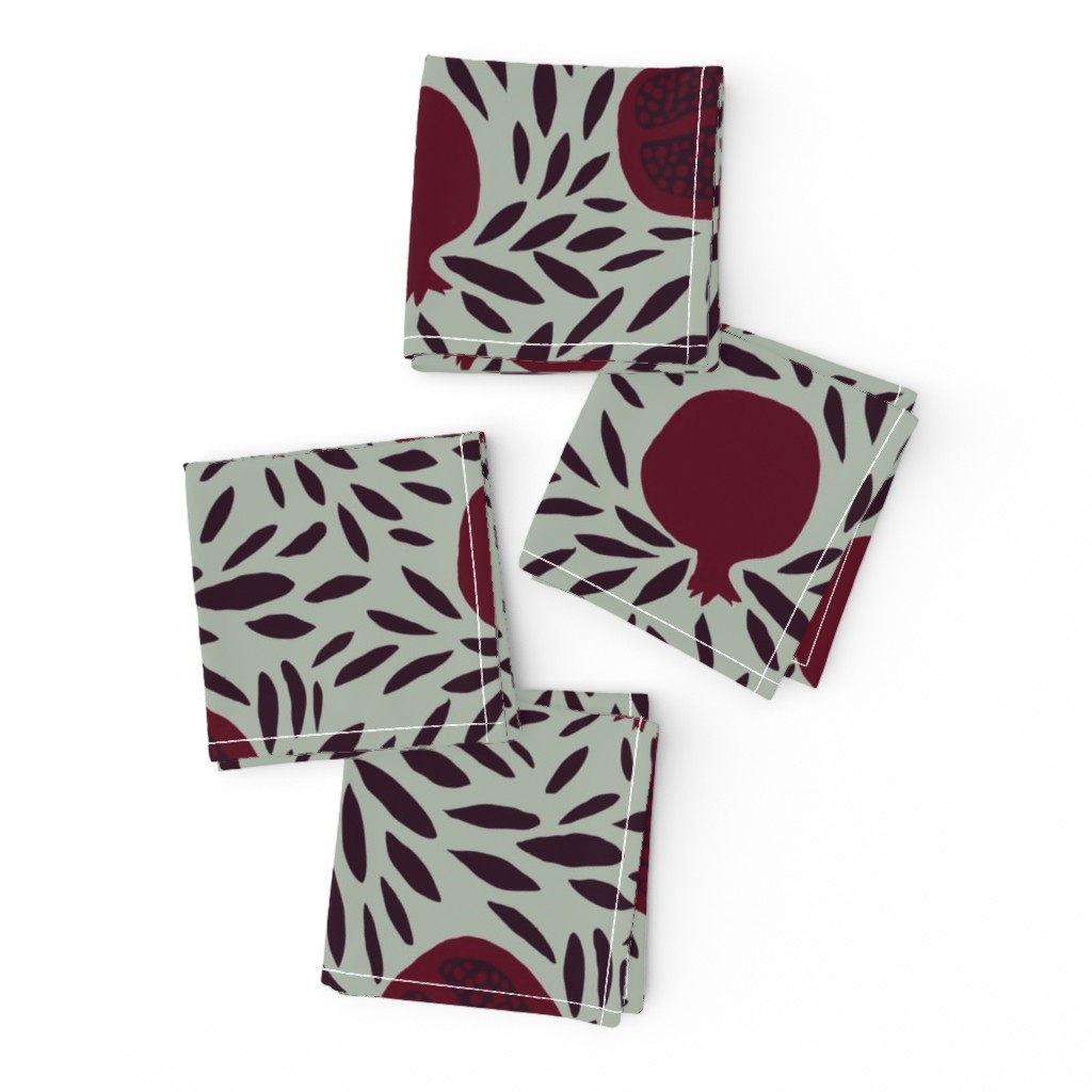 Frizzle Cocktail Napkins featuring POMEGRANATES by nadinewestcott