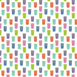 Moroccan tea glasses//hand drawn, colourful tea glasses fabric